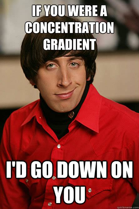 Concentration Meme - if you were a concentration gradient i d go down on you
