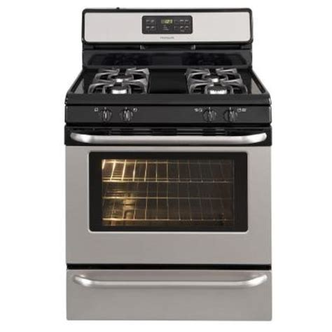frigidaire 5 cu ft gas range with self cleaning oven in