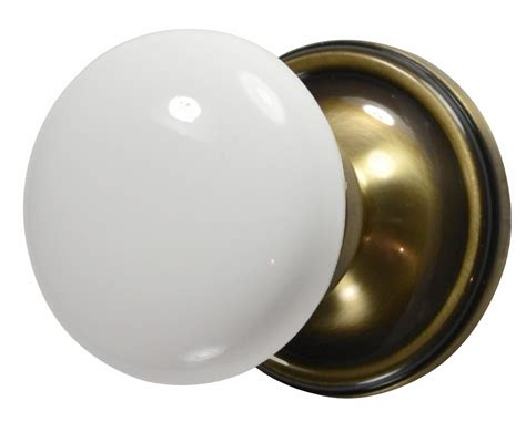 Porcelain Door Knobs Antique by White Porcelain Door Knob Antique Brass Plate