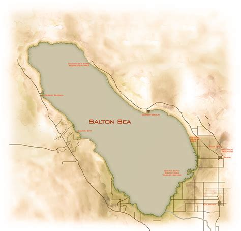 salton sea map notes   road