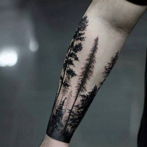forest tattoo forearm 100 forest designs for masculine tree ink