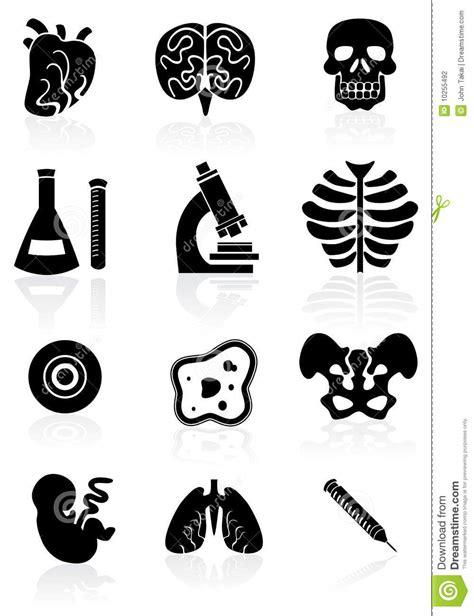 Set Aa Black White biology icon set black and white stock vector