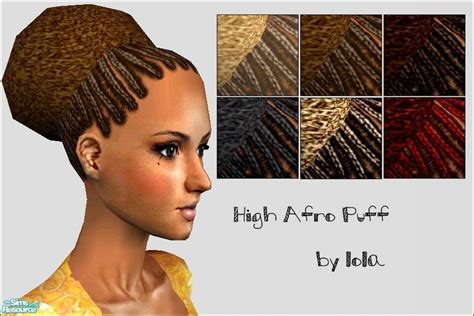 afro hairstyles sims 2 lola s high afro puff