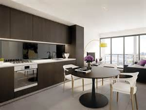 modern single line kitchen design using glass kitchen