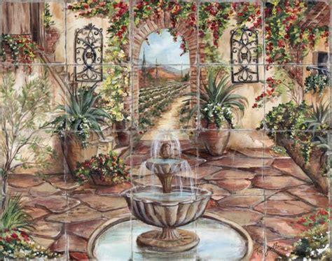 Backsplash Medallions Kitchen custom hand painted tile murals