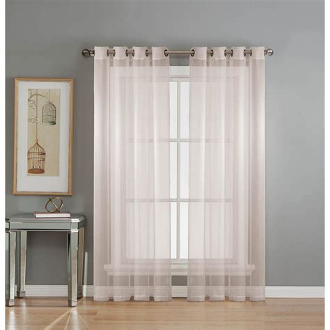 wide white curtains window elements sheer diamond sheer voile white grommet