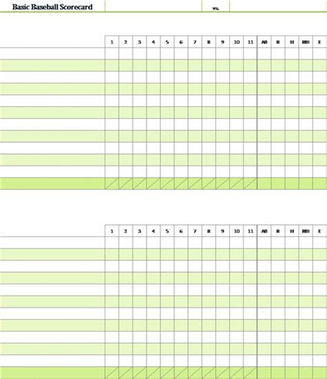 department scorecard template baseball scorecard with pitch count office templates