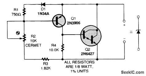 zener diode circuit diagram zener diode simulator circuit signal processing circuit diagram seekic