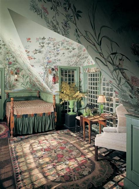 garden themed bedroom a guide to 20th century wallpaper old house online
