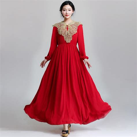 design dress ladies free shipping 2017 ladies fashion design islamic dress red