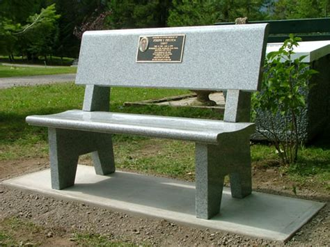 in memory benches memorial gardens kootenay monument installations