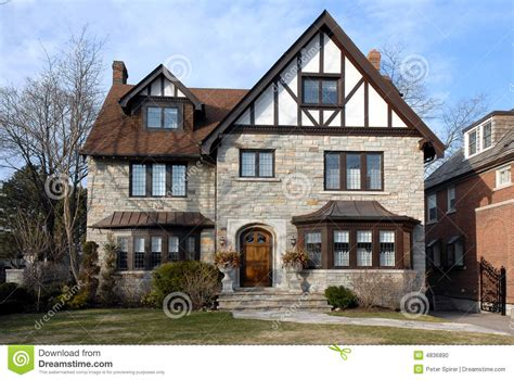 what is a tudor style house suburban tudor style house stock photo image 4836890