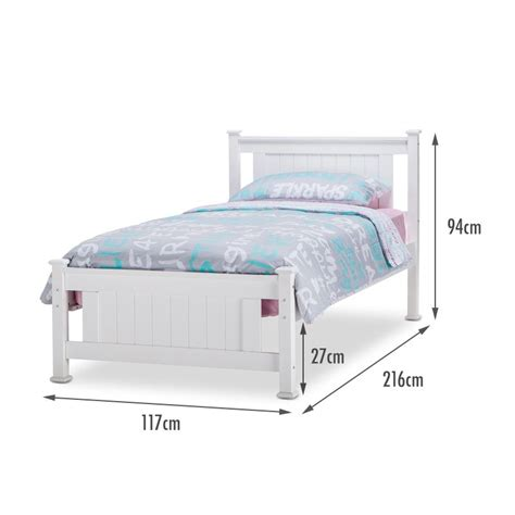 Single Bed Frame Dimensions Batna King Single Size Wood Mdf Bed Frame White Buy