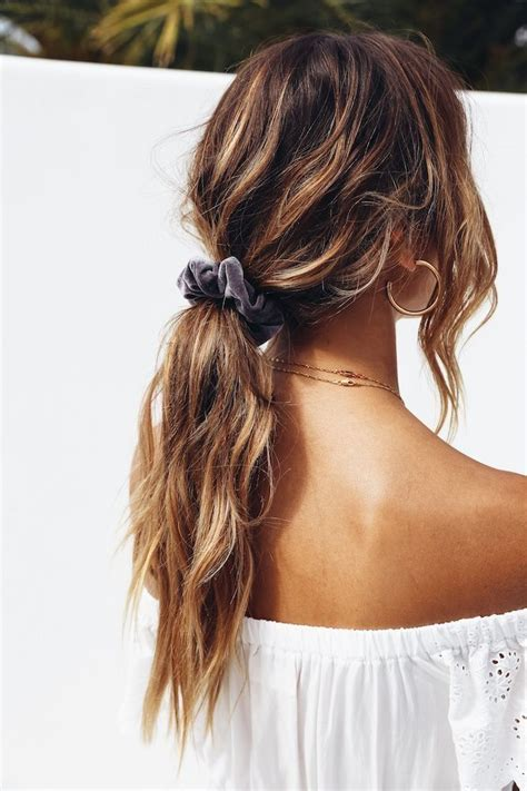 messy low ponytail cute hairstyles for school and long