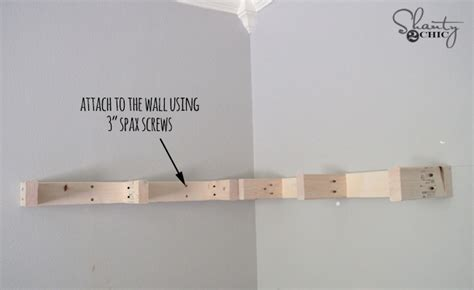 Attach Shelf To Wall by Diy Floating Corner Shelves Sufey