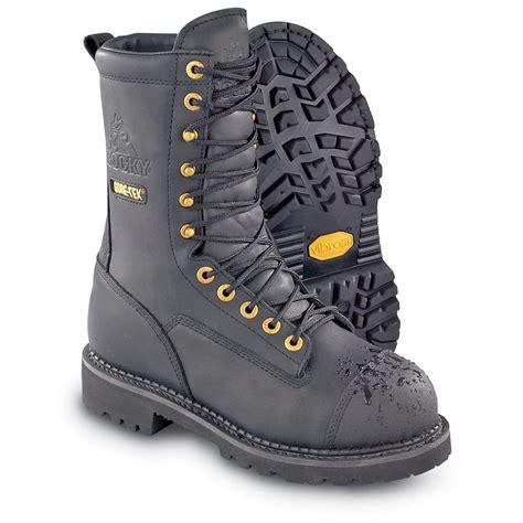 s rocky 174 tex 174 steel toe miner boots black