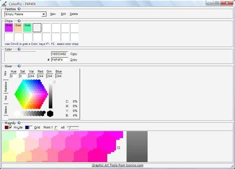 color pic colorpic portable graphics photo color picker