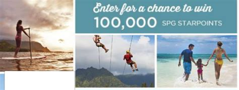 Define Sweepstakes - chance to win 100 000 spg starpoints sweepstakes define your aloha points miles