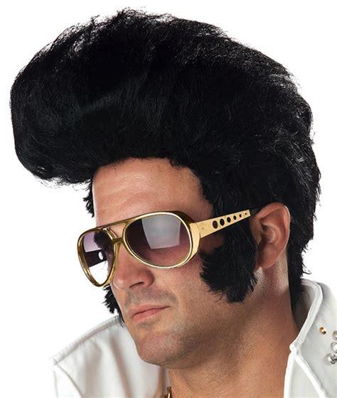 50s hair wigs for men rock n roll elvis king 50s 60s grease men costume wig ebay