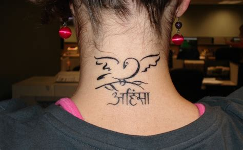 neck tattoo why lovely dove neck tattoo creativefan