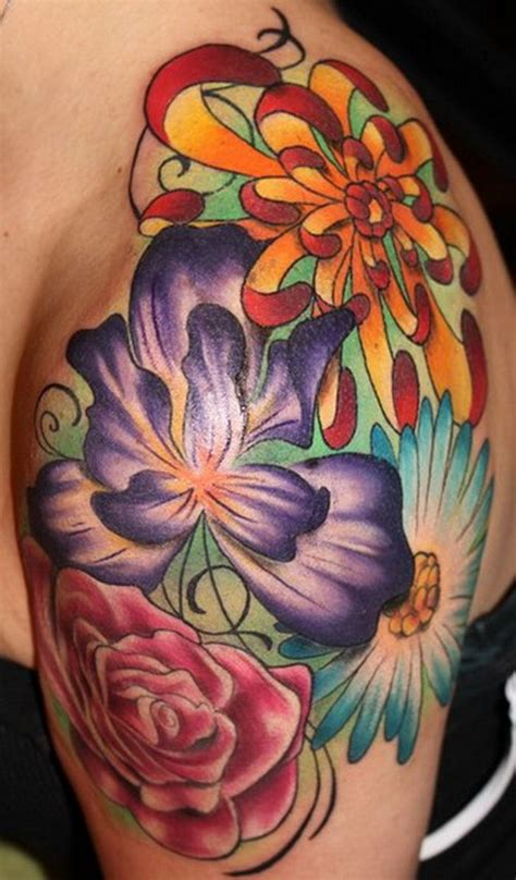 colorful flower tattoo designs 97 best images about terrific tattoos on crown
