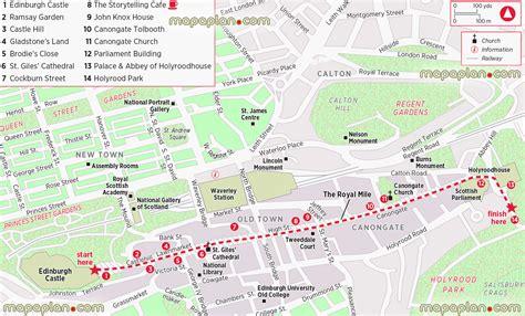 printable street map edinburgh edinburgh map old town royal mile printable walking