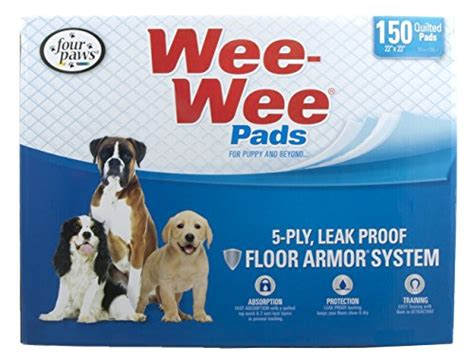 wee puppy paws four paws wee wee puppy housebreaking pads 150 pack