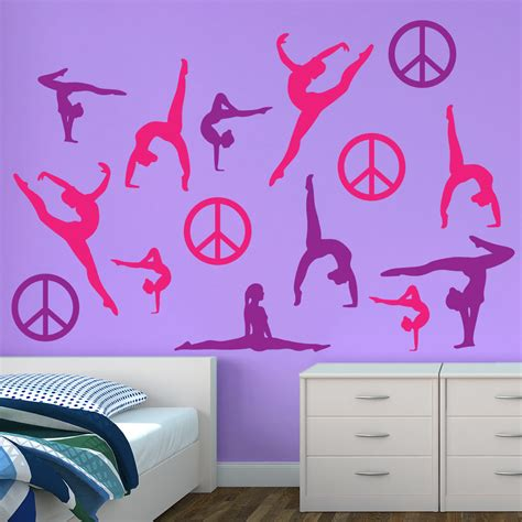 Bedroom Wall Quote Stickers pink amp purple silhouette wall graphics sticker genius
