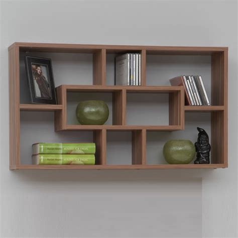 lasse bookcase wall shelves in plumtree with 8 compartments