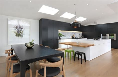 contemporary kitchen island ideas black and white kitchens ideas photos inspirations