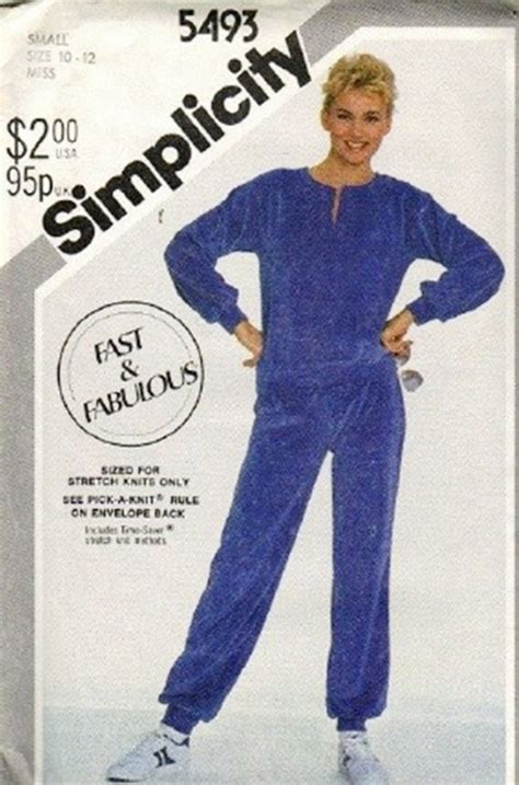 pattern sleuthing warm up simplicity 5493 misses warm up top pants sewing pattern
