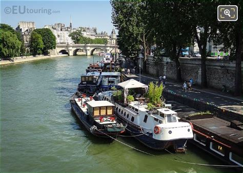 boats on the seine high definition photos of the river seine in paris france