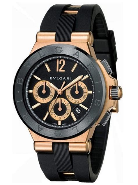 Jam Replika Bulgari Diagono Chrono Rubber Ultimate Clone 11 Dgn Asli best bvlgari watches to own for gracious