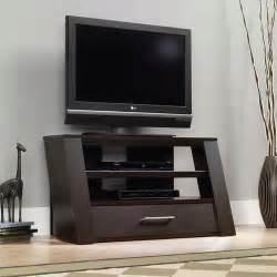 sauder jamocha wood tv stand for tvs up to 42 quot walmart com