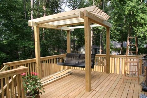 deck swing new deck pergola and a swing a seat