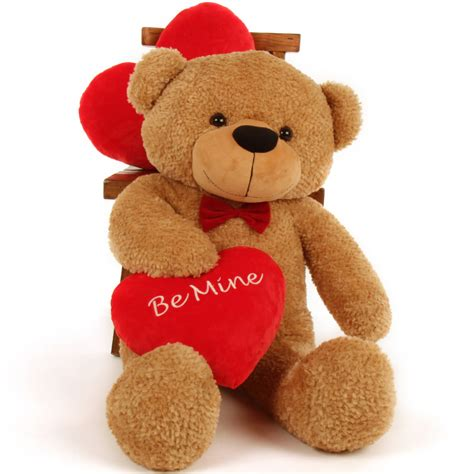 day bears teddy 38in valentine s day be mine