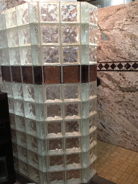 colorful glass tile block showers  decorative wall