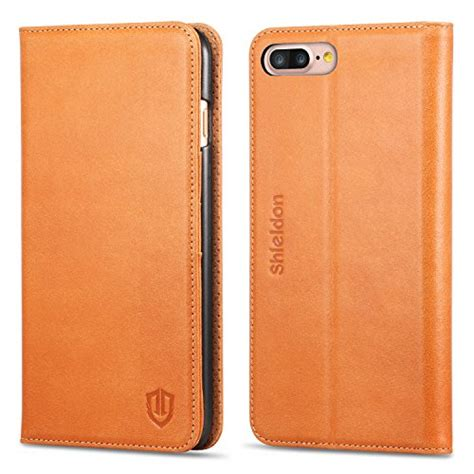 Best Deal Flip Leather For Iphone 7 Plus 8 Plus Brown review iphone 7 plus shieldon genuine
