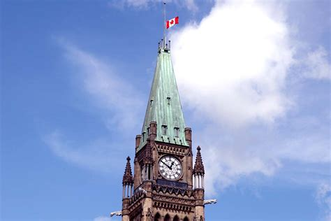 hill times peace tower flag at half mast pm s authority since
