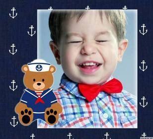 marcos para decorar fotos y subir al facebook marco con un osito marinero para subir una foto y