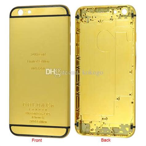 Iphone 5 Gold Frame Bezzel Housing Back Cover Battery Door see larger image