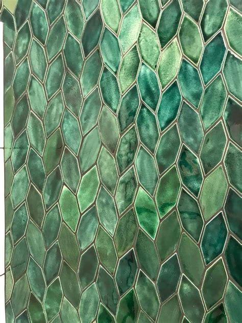 pretty antique  green leaf tile tiles cork tiles