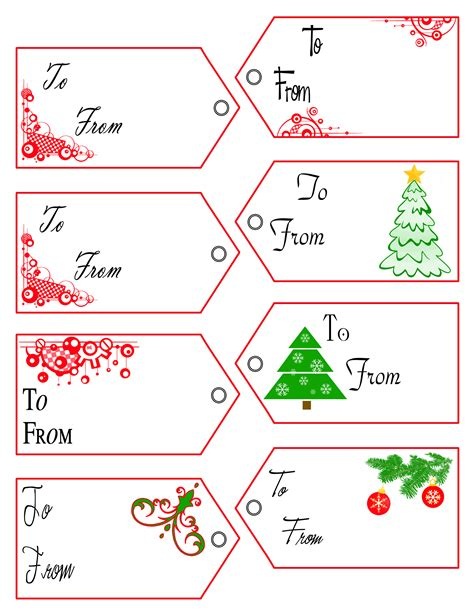 gift tag templates free 3d textures