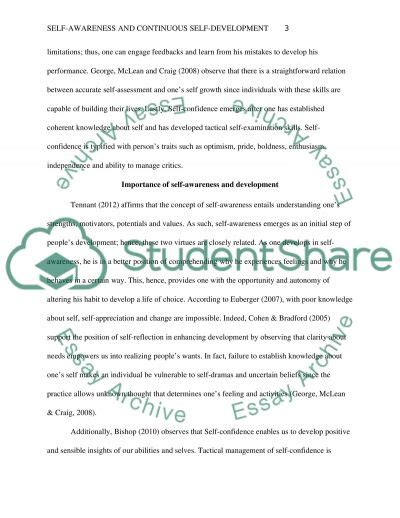 Awareness Essay by Self Awareness And Continuous Self Development Essay