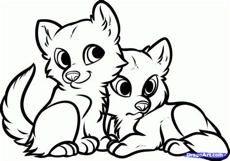 wolf puppies coloring pages how to draw wolf puppies wolf cubs step by step forest