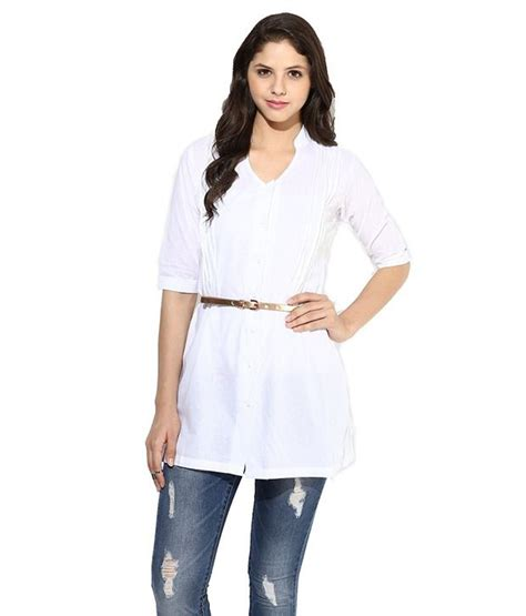 Best Quality Lusiana Tunic 1 buy la firangi white cotton tunic at best prices in india snapdeal