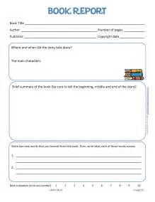 book report everything education book report bnute productions free printable kids book report worksheet