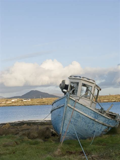 old fishing boats ireland old fishing boat in ireland stock photo image 4554554