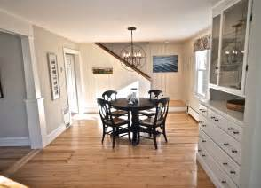 sopo cottage dining room and foyer before and after knotty pine paneling