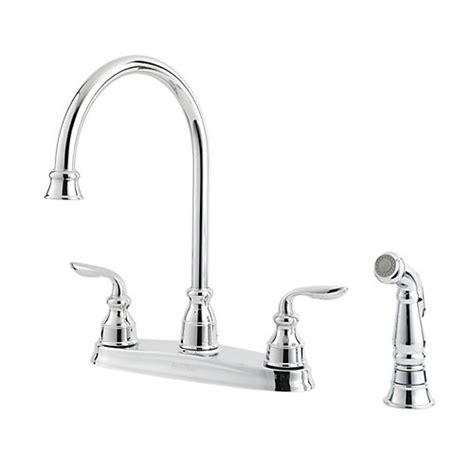 pfister gt36 4cbc avalon two handle kitchen faucet with
